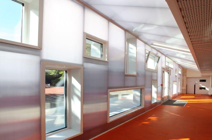 translucent facade