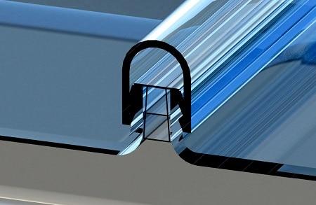 fachada de vidrio