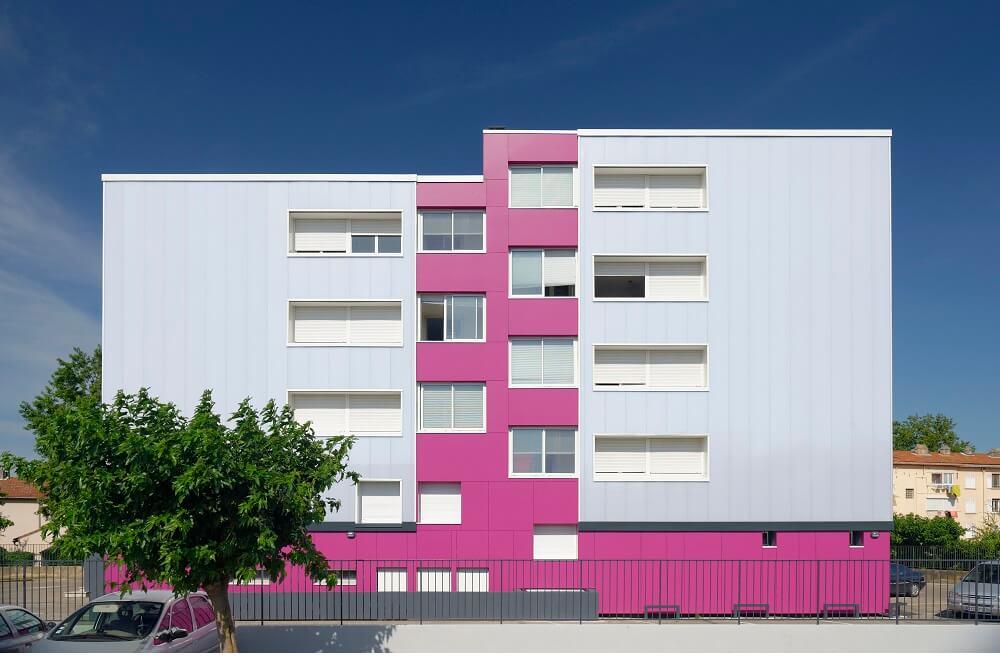 Sistema de fachadas ventiladas en diversos colores
